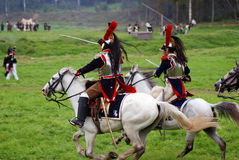 Borodino battle historical reenactment in Russia Stock Photo