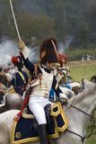 Borodino battle historical reenactment in Russia. Battle scene Stock Image