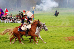 Borodino battle historical reenactment scene Stock Image