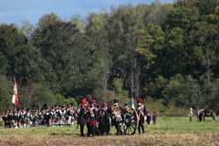 Borodino battle Stock Photos