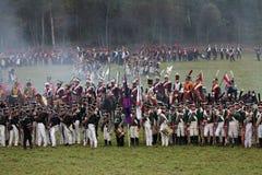 Borodino battle Stock Image