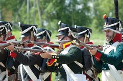 Borodino battle re-enactment Stock Photo