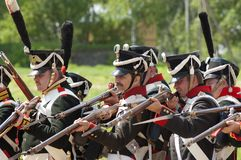 Borodino battle re-enactment Royalty Free Stock Photography