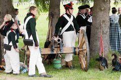 Borodino battle re-enactment Royalty Free Stock Photo