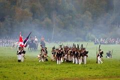 Borodino battle scene Royalty Free Stock Images