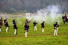 Borodino battle scene Royalty Free Stock Photo