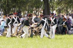 On Borodino field Royalty Free Stock Images