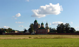 The Borodino field. Monastery on the Borodino field Stock Photography