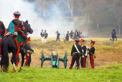 Borodino 2012 historical reenactment Royalty Free Stock Photo