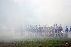 Borodino 2012 historiska reenactment Royaltyfri Fotografi