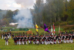 Borodino 2012 historiska reenactment Arkivfoton