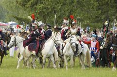 Borodino Kampf. Kavallerie atack Stockfoto