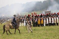 Borodino battle historical reenactment in Russia Stock Photo