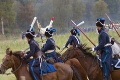 Borodino battle historical reenactment in Russia Stock Image