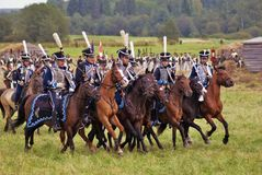 Borodino battle historical reenactment in Russia