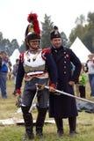 Cuirassiers at Borodino battle historical reenactment in Russia Stock Photo