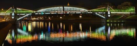 Borodinsky Brücke in Moskau Stockfotografie
