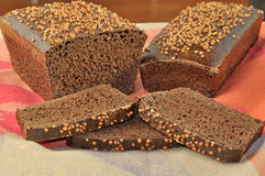 Borodinsky rye bread. stock photos