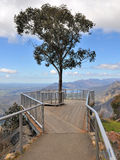 Boroka Lookout in the Grampians National Park. With tree in the middle Royalty Free Stock Image