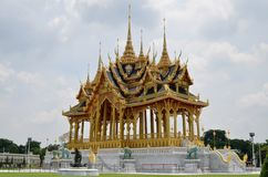 The Borommangalanusarani Pavilion. Bangkok - Thailand. 15 June, 2016. The Borommangalanusarani Pavilion, celebrates the 70th anniversary of His Majesty the King' Stock Image