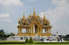 The Borommangalanusarani Pavilion. Bangkok - Thailand. 15 June, 2016. The Borommangalanusarani Pavilion, celebrates the 70th anniversary of His Majesty the King' Stock Photo