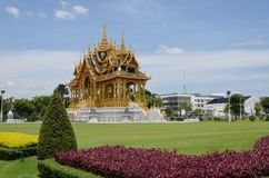 The Borommangalanusarani Pavilion. Bangkok - Thailand. 15 June, 2016. The Borommangalanusarani Pavilion, celebrates the 70th anniversary of His Majesty the King' Royalty Free Stock Photos