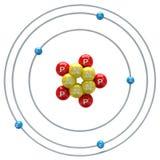 Boron atom on white background Royalty Free Stock Photo