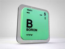 Boron - B - chemical element periodic table Stock Photos