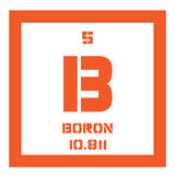 Boron chemical element Royalty Free Stock Image