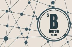 Boron chemical element. Stock Images