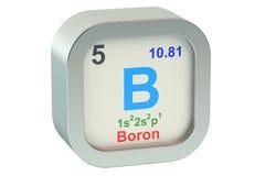 Boron. Element symbol 3d on white background Stock Image