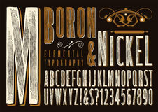 Boron & Nickel Typography royalty free illustration