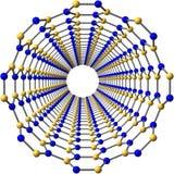 Boron nitride nanotube Stock Image