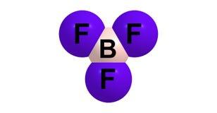 Boron trifluoride molecular structure isolated on white Stock Image