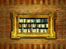 Boroque Bookcase Royalty Free Stock Images