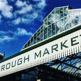 Borough market London. Markets streets blue Stock Photo