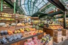 Borough Market in London, United Kingdom. London, UK- January 10, 2018:Borough Market in London, United Kingdom Stock Images
