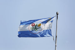 The Borough of Queens official flag in New York Royalty Free Stock Photo