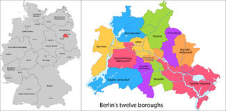 Boroughs of Berlin Stock Photography