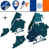 Boroughs of New York City Stock Images