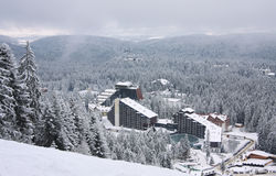 borovets保加利亚复杂旅馆手段滑雪 图库摄影