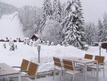 Borovets滑雪胜地在保加利亚 库存图片