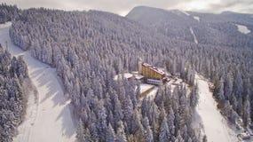 Borovets滑雪胜地,保加利亚 图库摄影