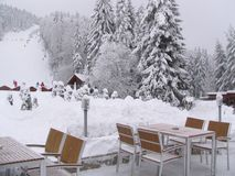 Borovets-Skiort in Bulgarien stockbild