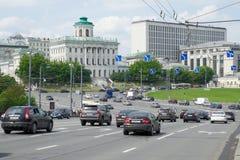 Borovitskaya fyrkant i Moskva Fotografering för Bildbyråer
