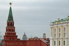 Borovitskaya Tower and Armoury Palace, Kremlin, Moscow Royalty Free Stock Image