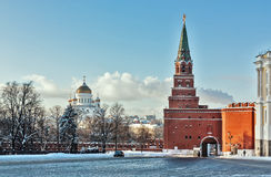 Borovitskaya Tower. Moscow Royalty Free Stock Images