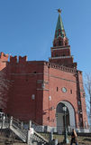 Borovitskaya Tower, Moscow Kremlin Royalty Free Stock Photos