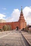 Borovitskaya tower of Moscow Kremlin Royalty Free Stock Photos