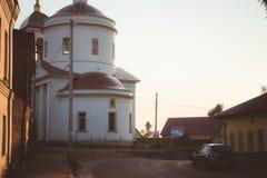 Borovsk, Rússia - 18 de agosto de 2018: Igreja da transfiguração em Borovsk imagens de stock royalty free